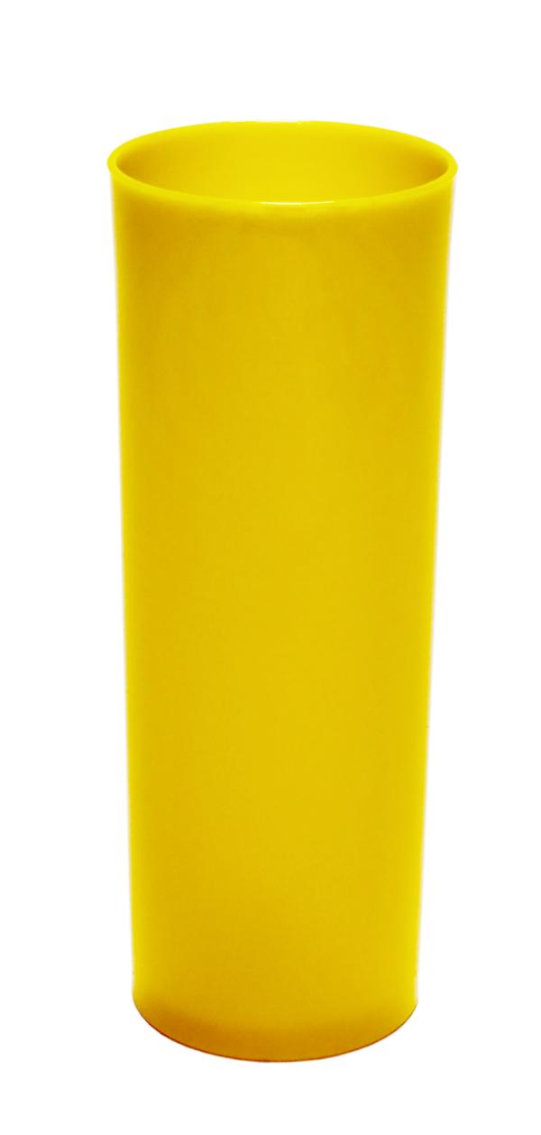 LONG DRINK 250 ML AMARELO SOLIDO (CX128)