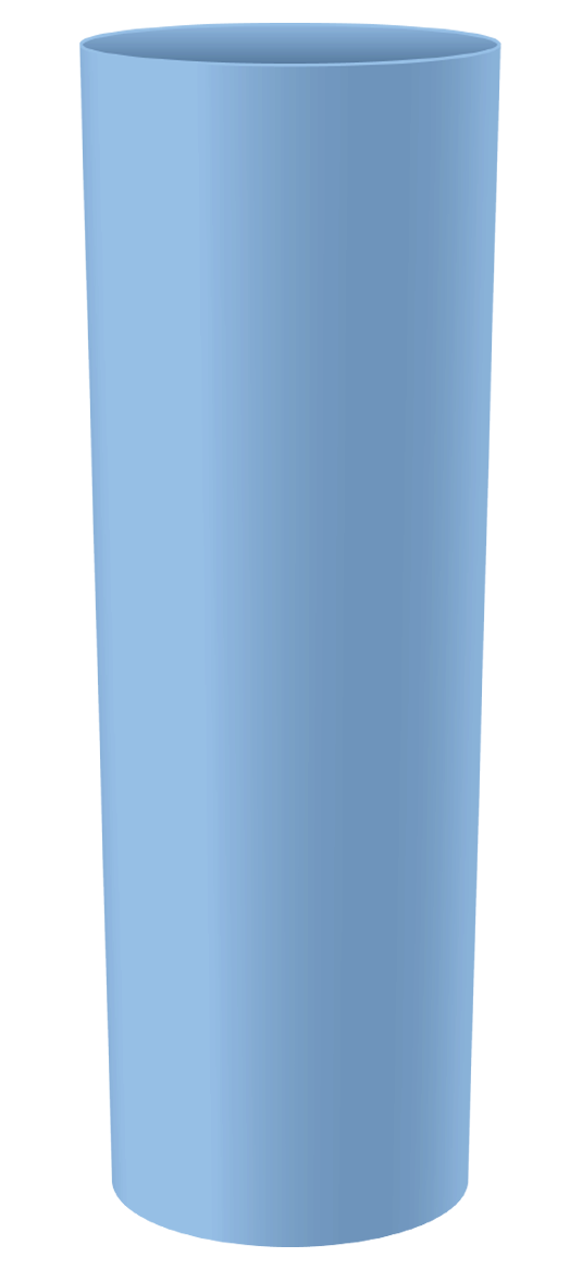 LONG DRINK 250 ML AZUL BEBE SOLIDO (CX128)