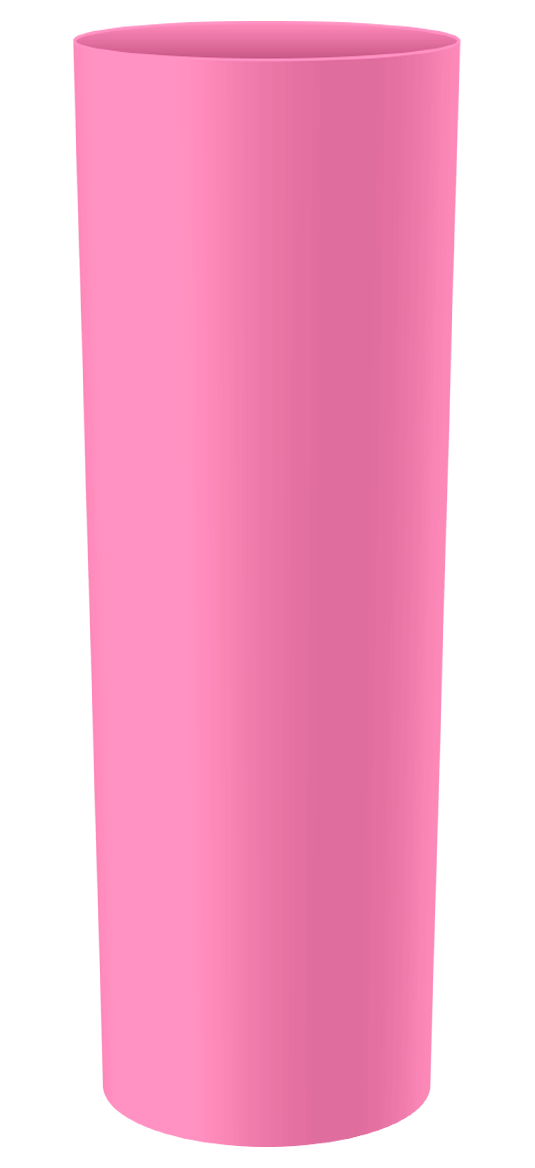 LONG DRINK 250 ML ROSA BEBE SOLIDO (CX128)
