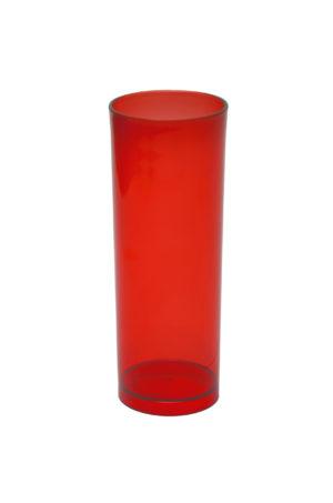 LONG DRINK 320 ML VERMELHO TRANSLUCIDO (CX80)