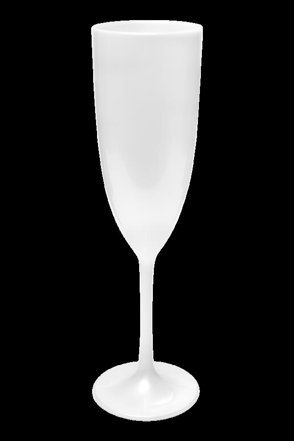 TACA GLAMOUR 210 ML BRANCO PEROLA (CX60)
