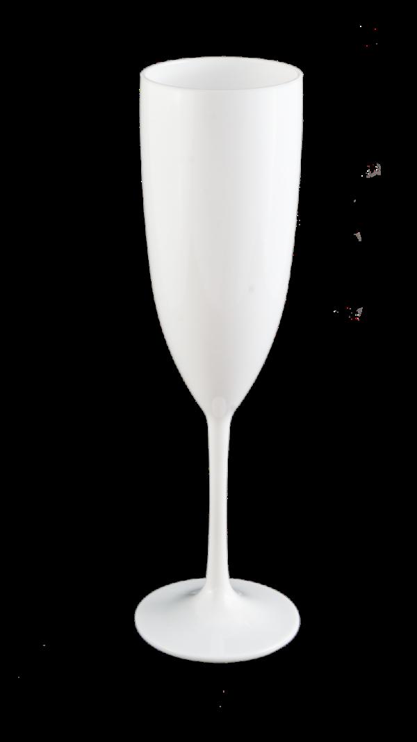 TACA GLAMOUR 210 ML BRANCO SOLIDO (CX60)