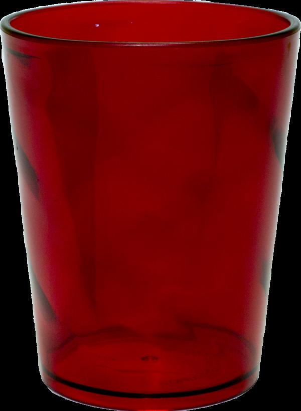 COPO MIX VERMELHOTRANSLUCIDO 300ML (CX100)